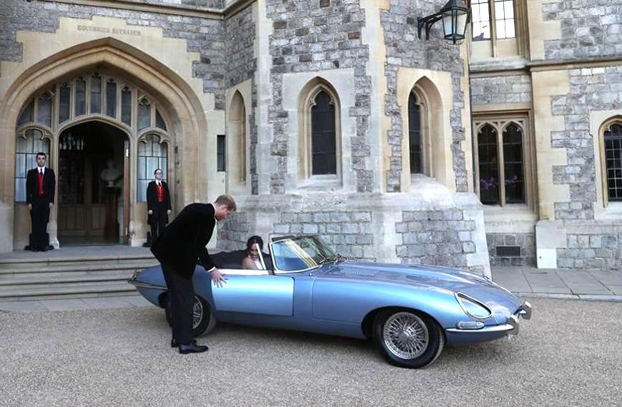 Jaguar E-type EV stars at the Royal Wedding