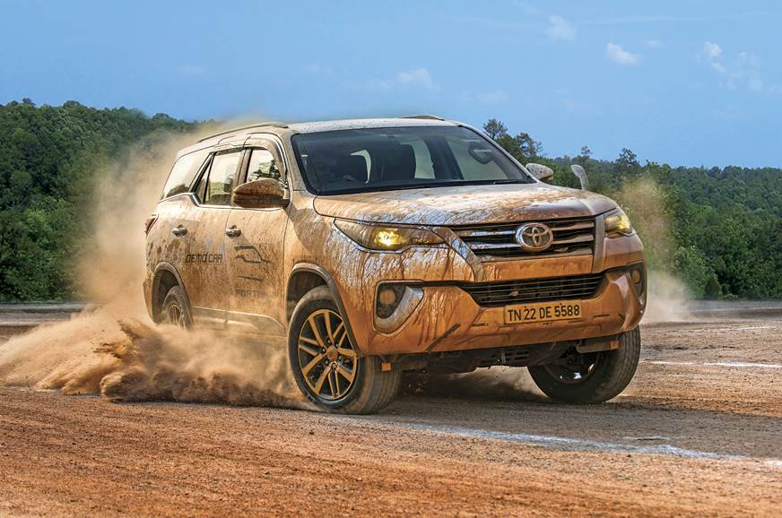 Watching the Fortuner take on the course is thrilling.