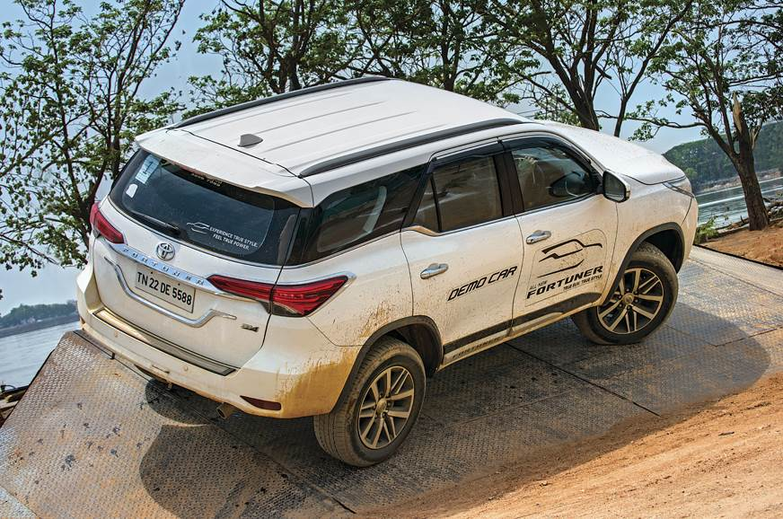 The Fortuner confidently takes on the 30-degree side incl...