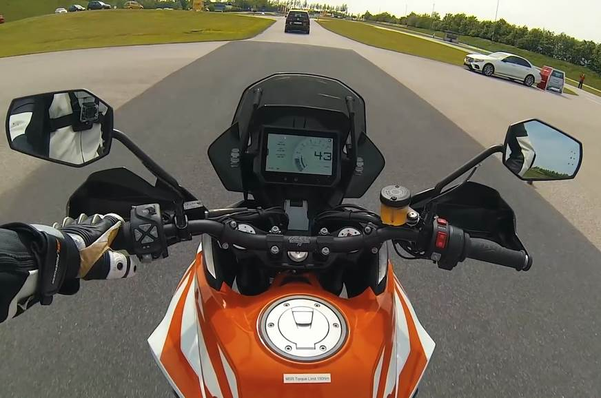 KTM advanced rider assists shown on new video