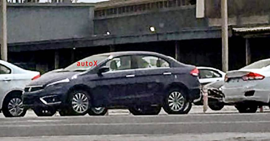 Maruti Suzuki Ciaz facelift spied undisguised