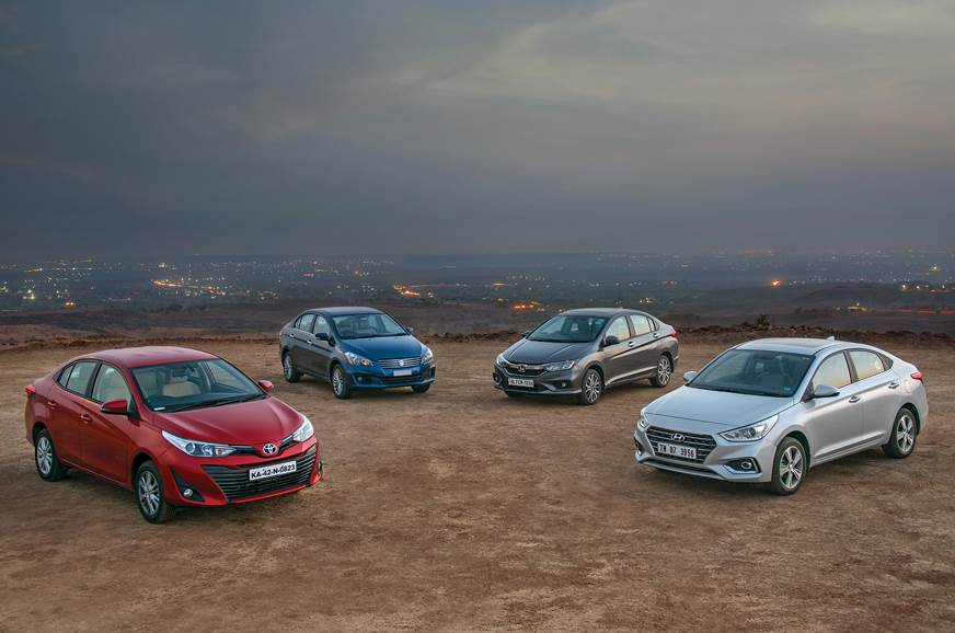 2018 Yaris vs Verna vs City vs Ciaz comparison