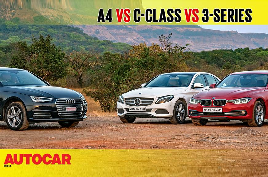 Audi A4 vs Mercedes-Benz C-class vs BMW 3-series comparison video