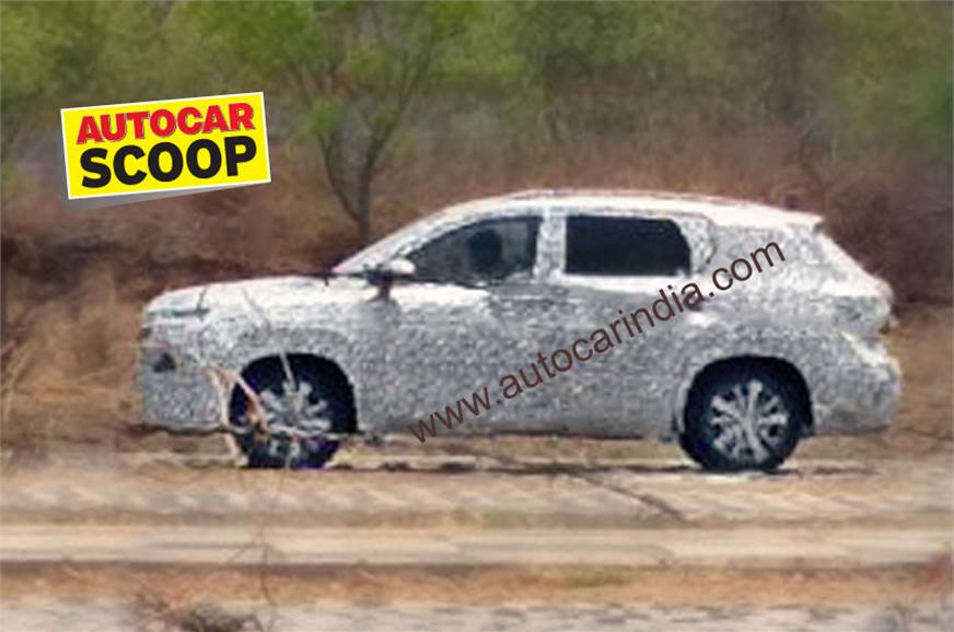 First-ever spy shot of India-bound MG SUV.