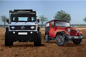 2018 Force Gurkha Xtreme vs Mahindra Thar: Specifications comparison