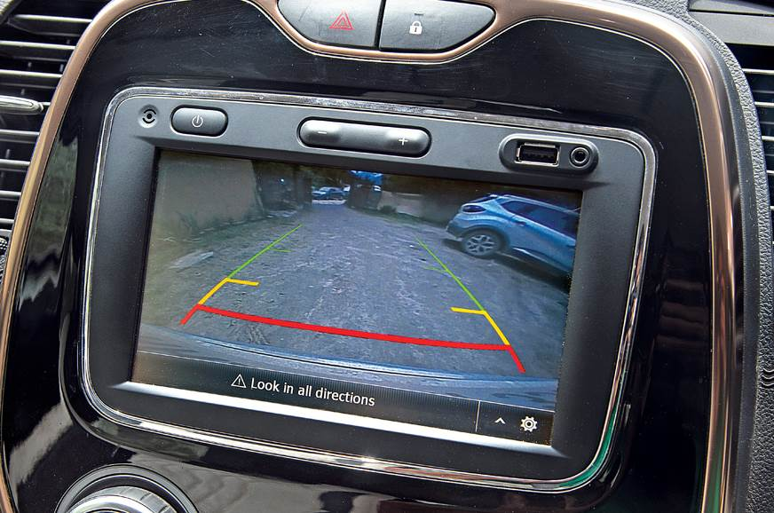 The Captur's reverse camera proved to be big boon when re...