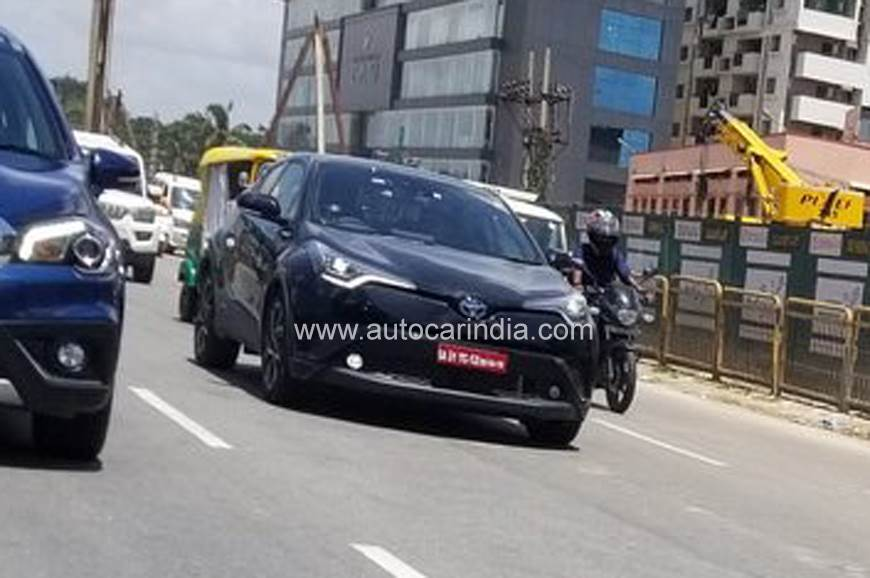 Toyota C-HR spied testing in India