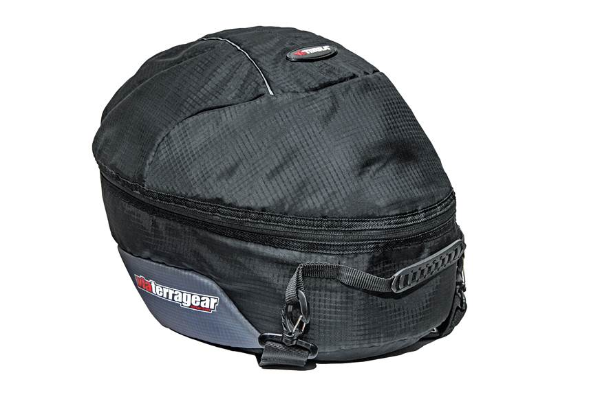 The bag is large and should accomodate most full-face hel...