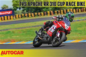 TVS Apache RR 310 Cup race bike video review