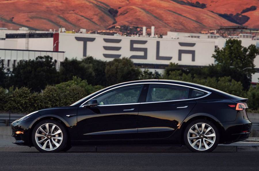 European debut of Tesla Model 3 at Goodwood