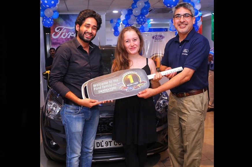Anurag Mehrotra Ford India President & MD, handing over F...