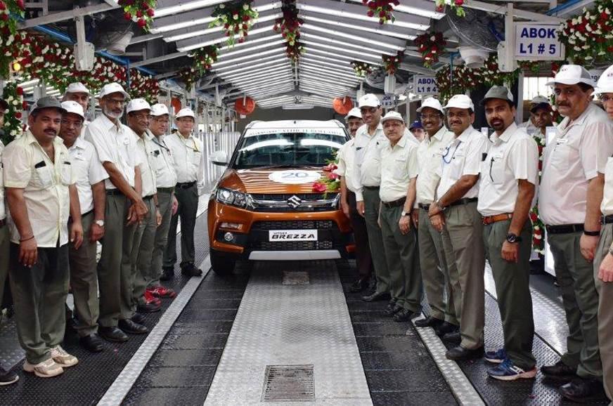 Maruti Suzuki achieves 20 million unit production milestone