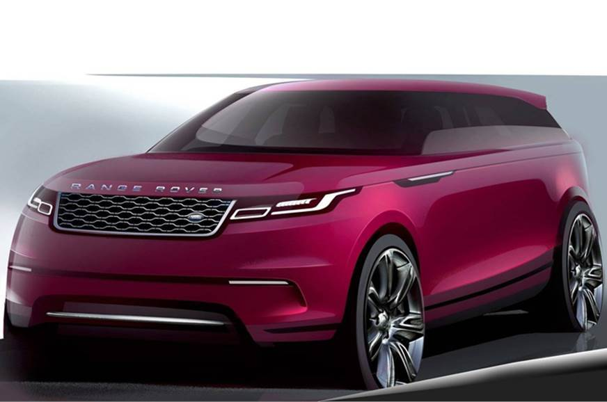 Sketch of the Land Rover Velar used for representative purposes only.