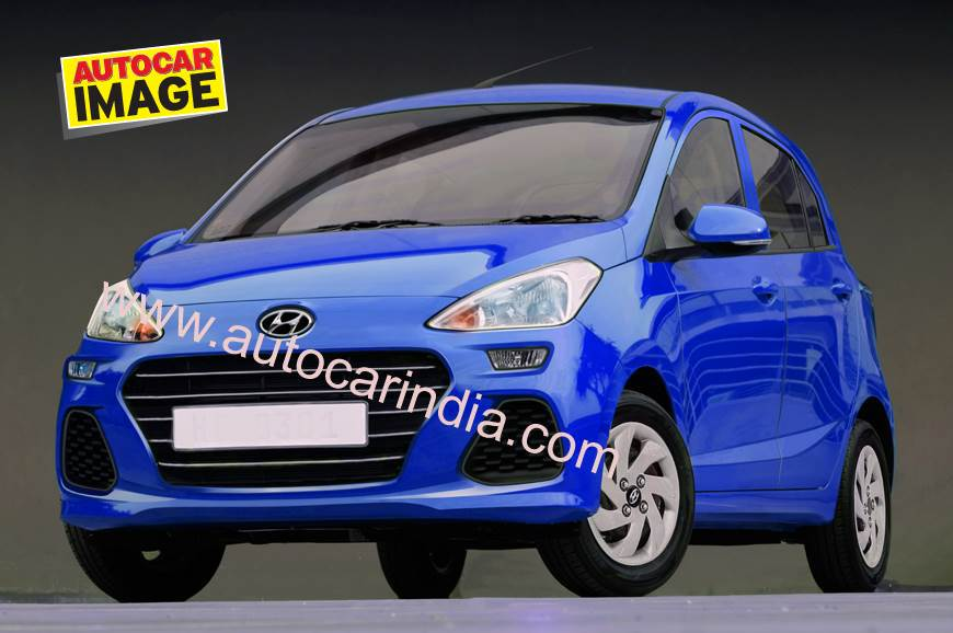 Upcoming Hyundai Santro. Computer-generated rendering by Autocar India.