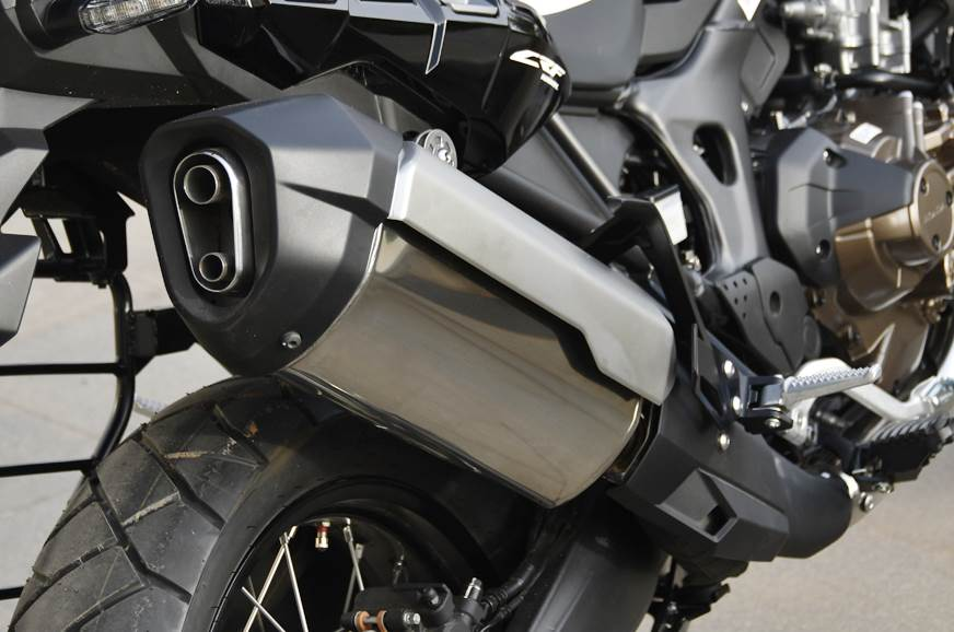 New exhaust liberates slightly more power and torque; sou...