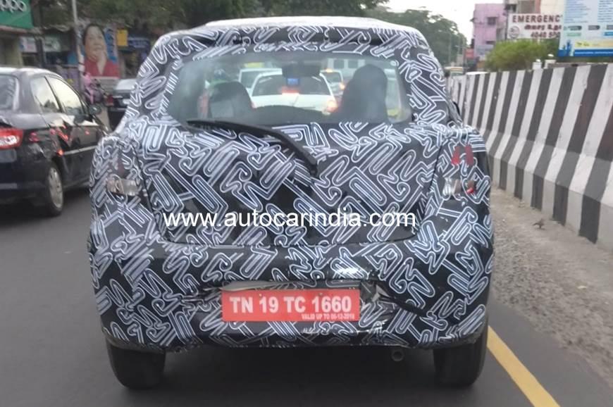 Datsun Go facelift spied in India
