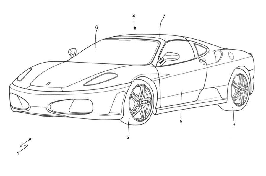Ferrari files Targa Top patent