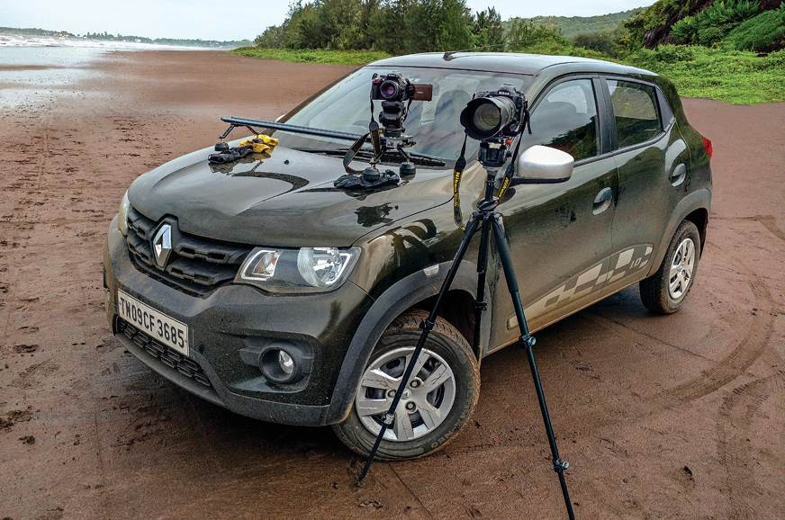 The Kwid accompanied our chief photographer Ashley on man...
