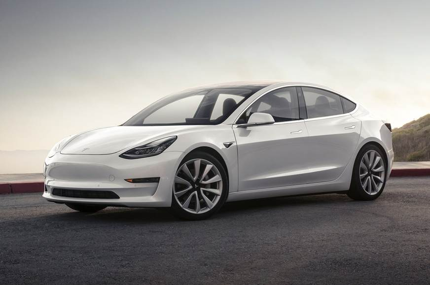 Image of the Tesla Model 3 used for representative purposes only.