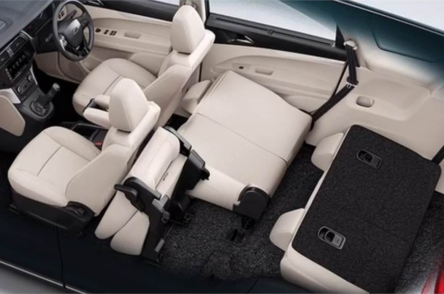 The eight-seat Marazzo with bench and rear seats flipped ...