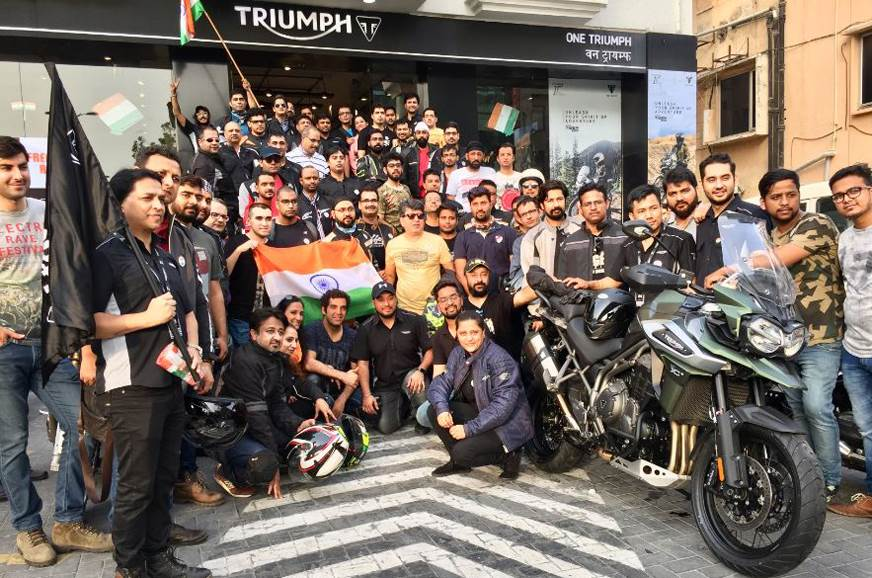 Triumph hosts Independence Day ride