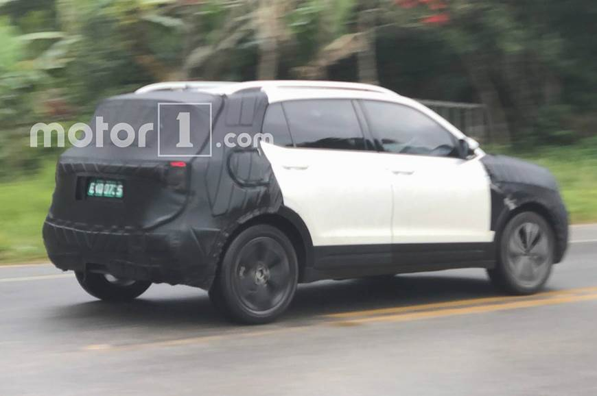 India-bound VW T-Cross SUV spied