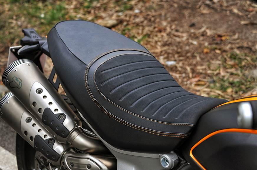 The Scrambler 1100 Sport gets its own seat design.