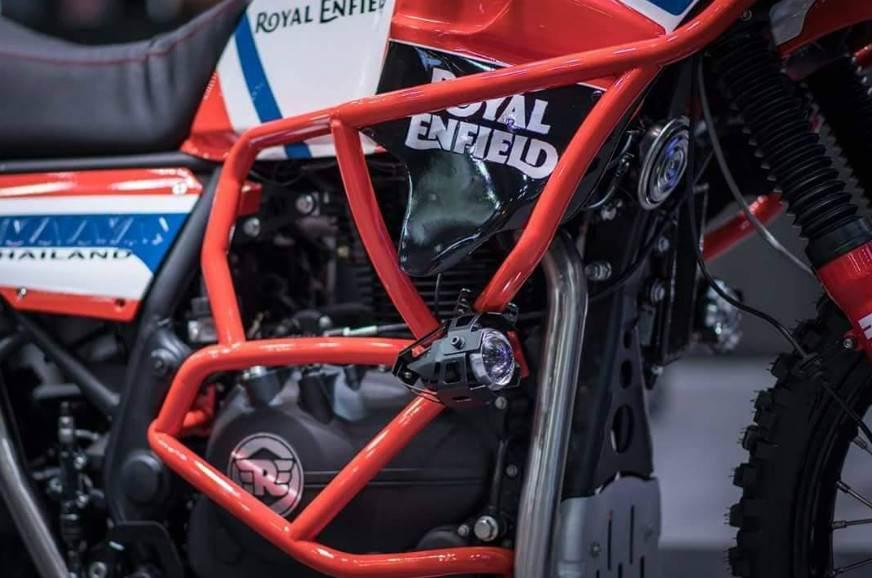 Royal Enfield Himalayan Dakar Rally crash guard.