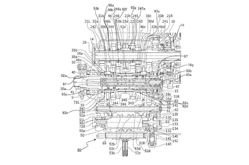 The seamless gearbox patent image that has appeared online.