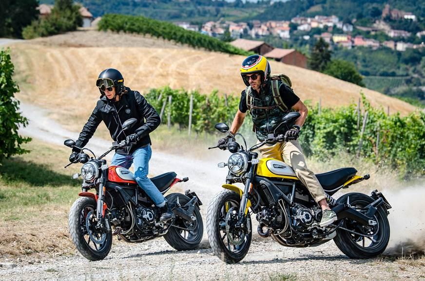 The 2019 Ducati Scrambler Icon in action.