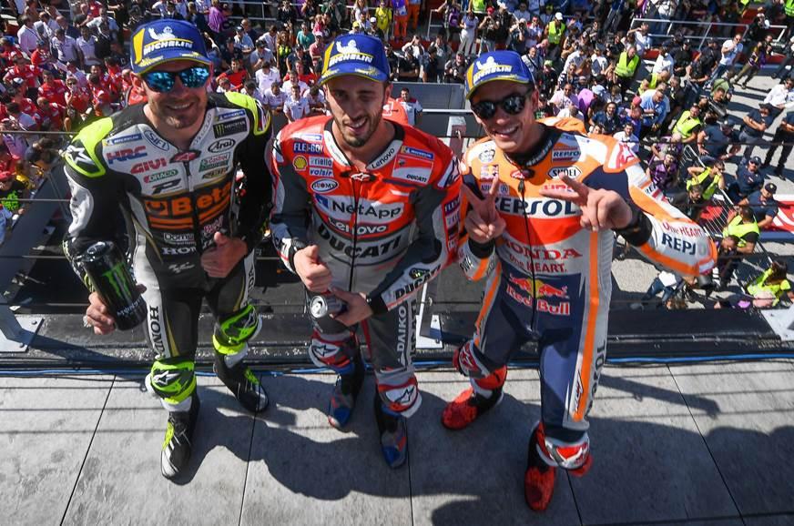 San Marino GP podium finishers.