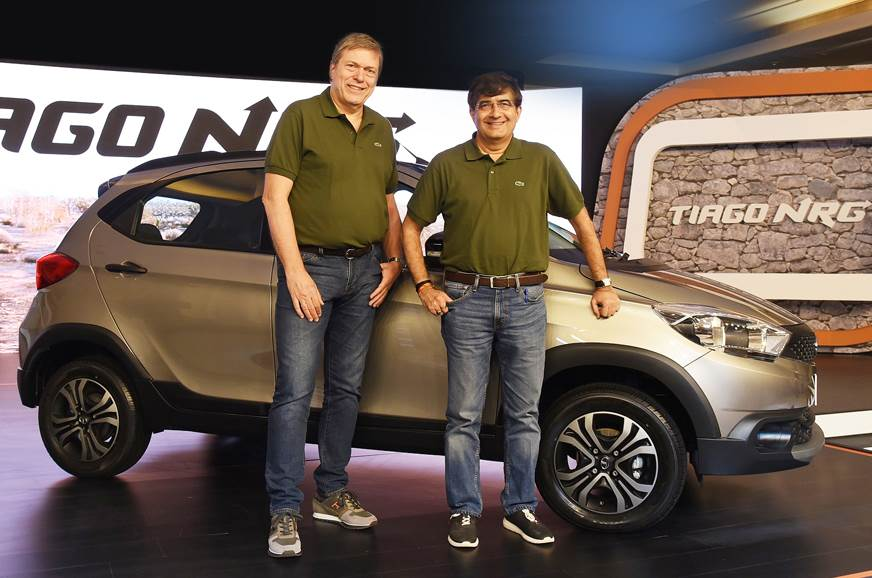 Guenter Butschek, CEO and MD, Tata Motors (left) and Mayank Pareek, President – Passengers Vehicle Business Unit (right).