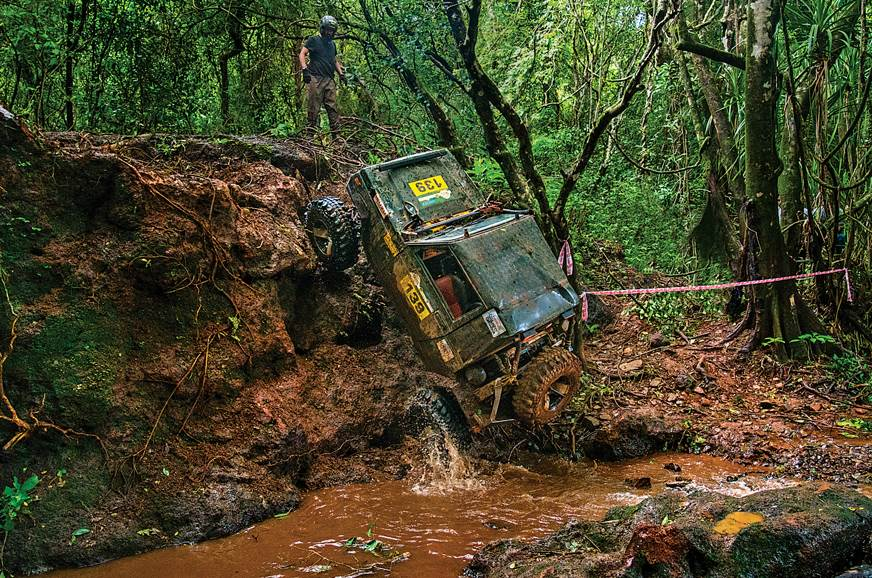 Seeing a 4x4 scale a vertical incline is an experience in...