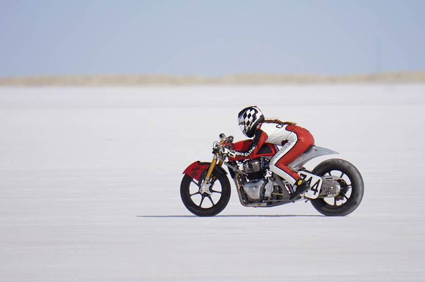 Modified Royal Enfield 650 breaks speed record