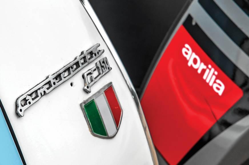 Lambretta and Aprilia logos sit proud.