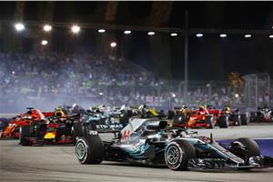 Hamilton clinches Singapore GP victory