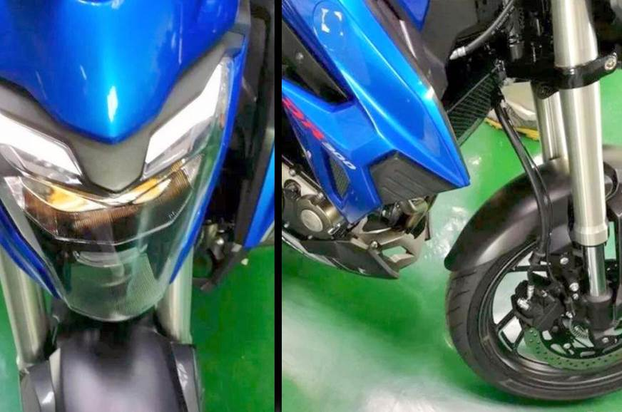 The headlight, brake and USD fork on the GSX-S300
