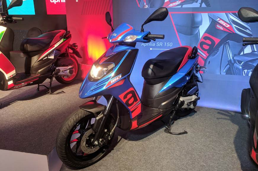 2018 Aprilia SR150 in blue