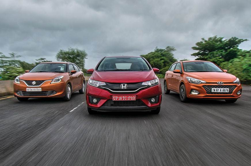 2018 Jazz vs i20 vs Baleno automatic comparison