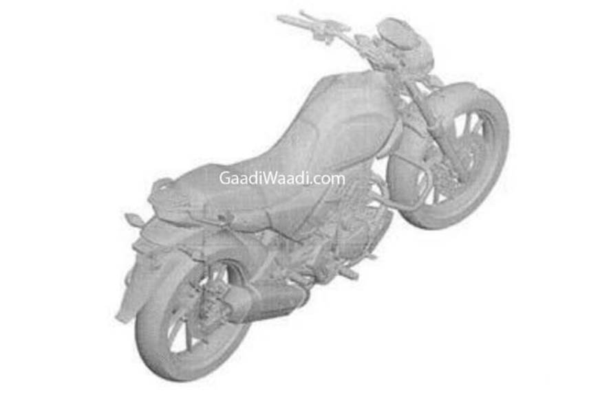 Hero 200cc motorcycle patent leaked
