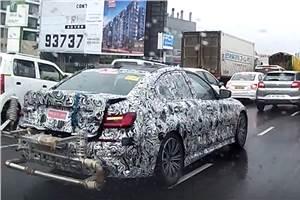 Next-gen BMW 3-series (G20) spied in India