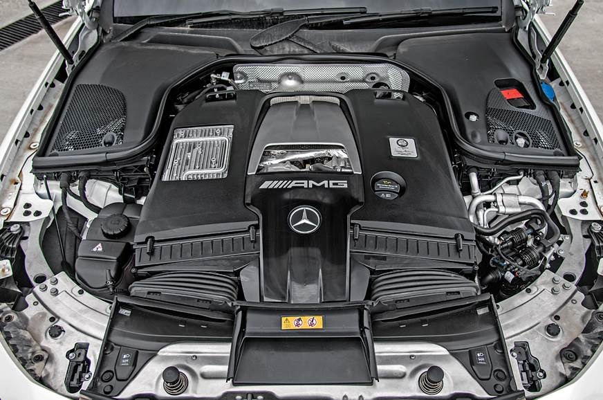 It's been downsized to 'just' 4L, but as with all AMG V8s...