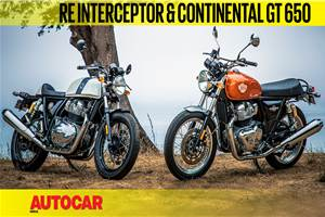 Royal Enfield Interceptor, Continental GT 650 video review
