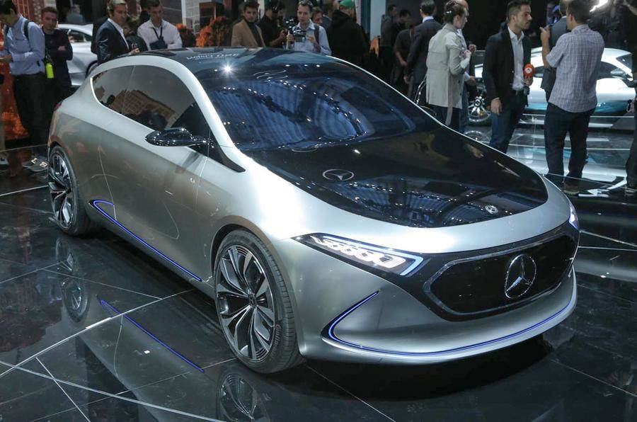 Mercedes EQA displayed at Paris motor show