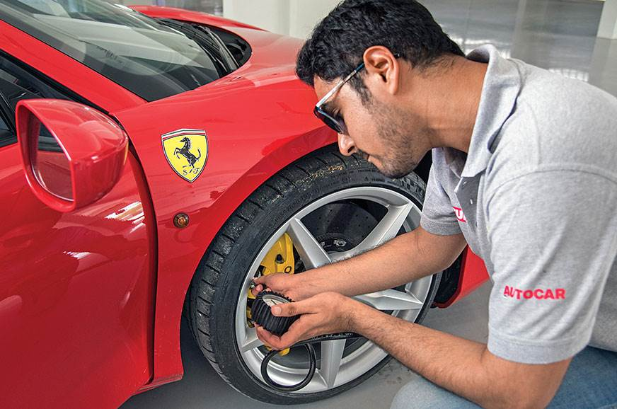 The 488 only had Michelin Pilot Super Sport street tyres,...