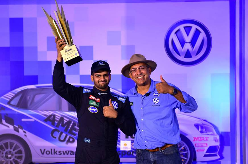 Dhruv Mohite with Sirish Vissa, Head of Volkswagen Motors...