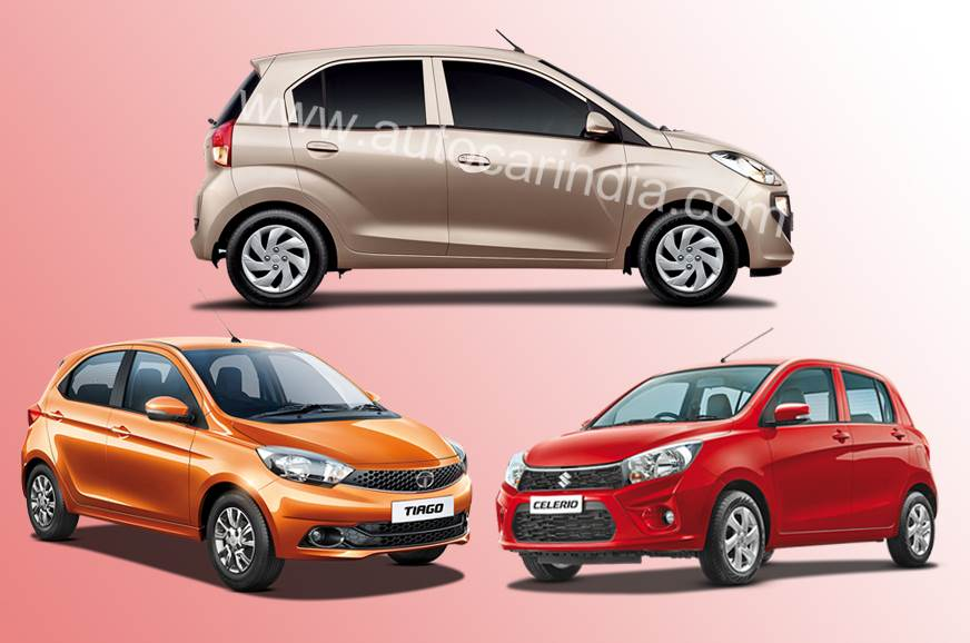 2018 Hyundai Santro vs rivals: Specifications comparison