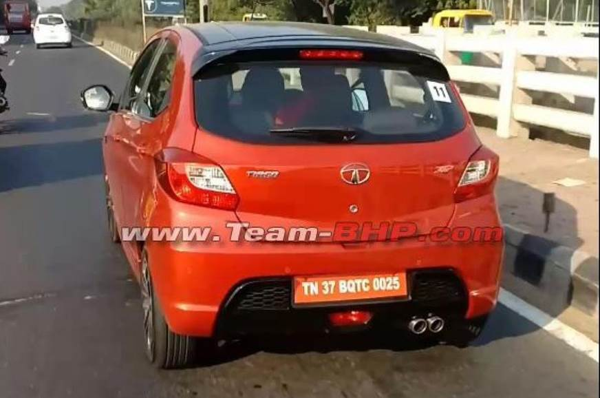 Production-spec Tata Tiago JTP spied