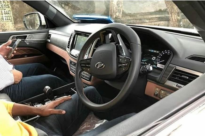 Mahindra Y400 SUV interior spied
