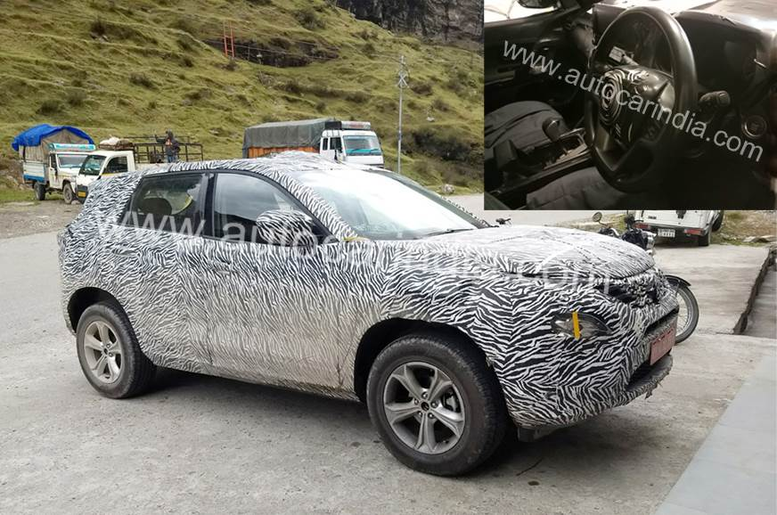 Tata Harrier diesel automatic spied for the first time